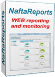 Web reporting system and online monitoring for petrol stations