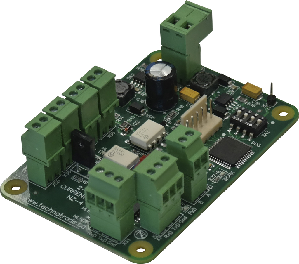 NZ-4 interface converter PCB board with terminal blocks