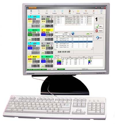 Computer control system for  filling stations