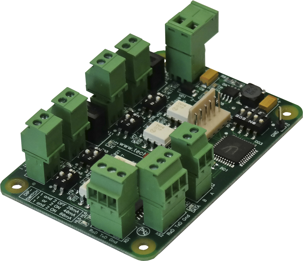 GB-4 interface converter PCB board with terminal blocks