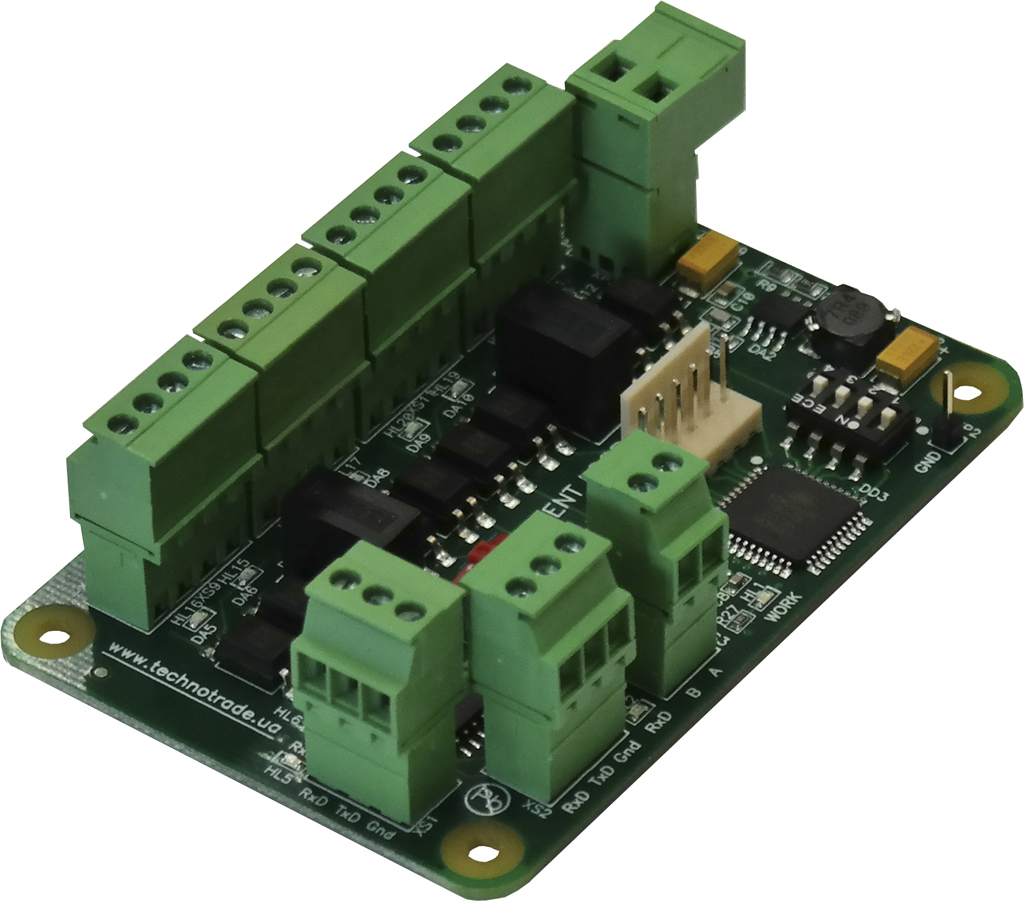 HY-4 interface converter PCB board with terminal blocks