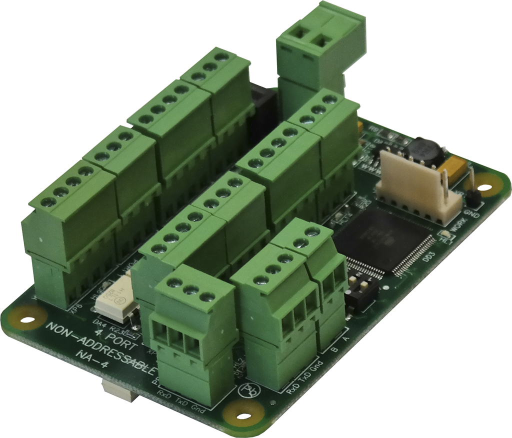 NA-4 interface converter PCB board with terminal blocks