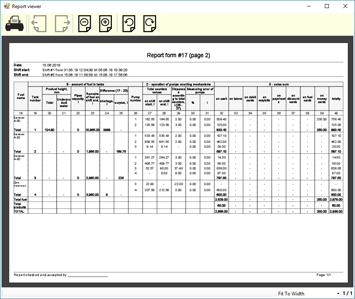 NaftaPOS software reporting