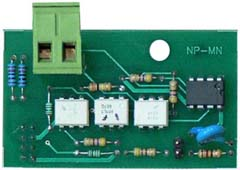 NP-4 interface converter PCB board with terminal blocks
