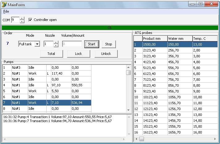 PTS-1 controller Delphi 7 API