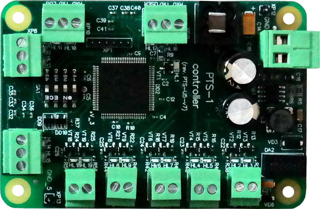 PTS PCB board with terminal blocks