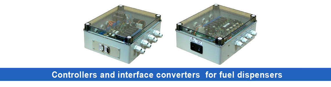 Controllers and interface converters for fuel dispensers
