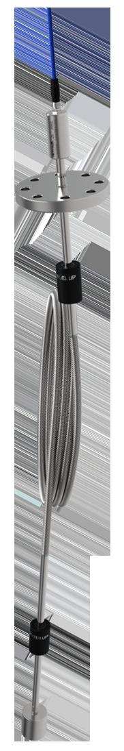 Магнитострикционный взрывозащищенный гибкий проводной уровнемер Alisonic DELPHI 485FX