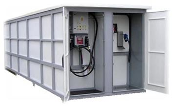 Automatic container petrol station example