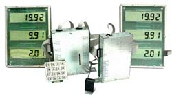 Indicating device with interface board for fuel dispensers (pumps)