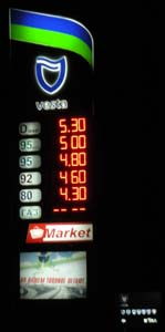 Price board for fuel filling stations