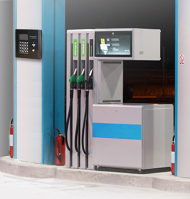Terminal can be installed near the fuel dispensers