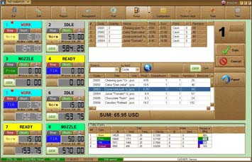 Software for filling station NaftaPOS general view 1