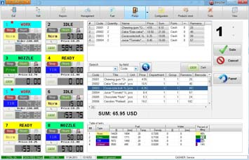 Fuel management software NaftaPOS general view 2