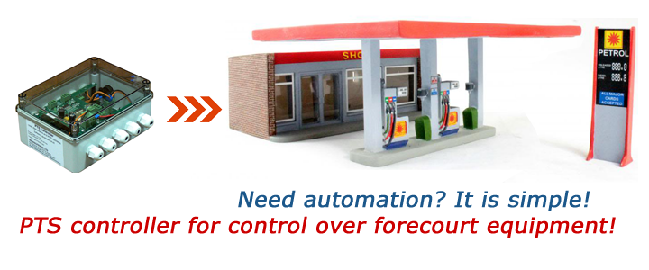 PTS forecourt controller application